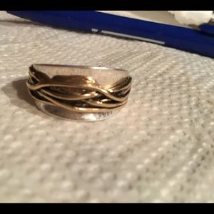 Stamped silver and gold ring, think it's men's